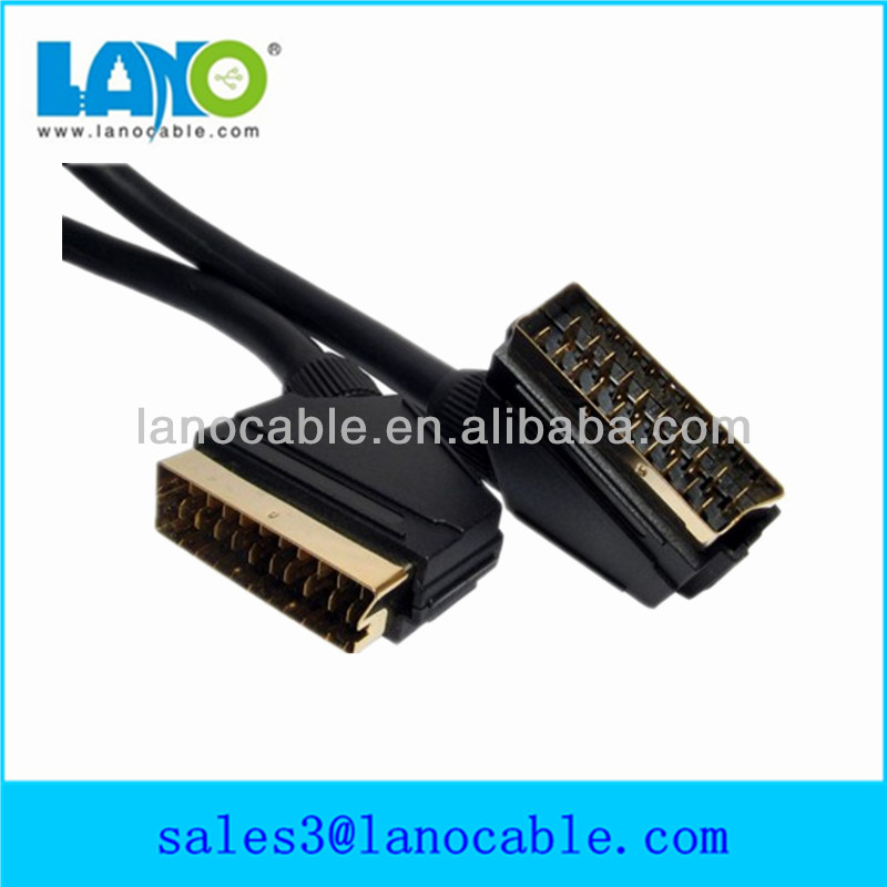 high quality 9-pin /21pin scart to coaxial adapter cable
