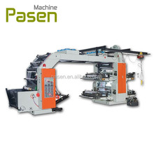 High Speed 4 colors Polyethylene Paper Film Drum Flexo Printer Flexographic Printing Machine