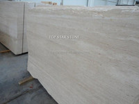 Natural Polished Super White Travertine Marble cheap price