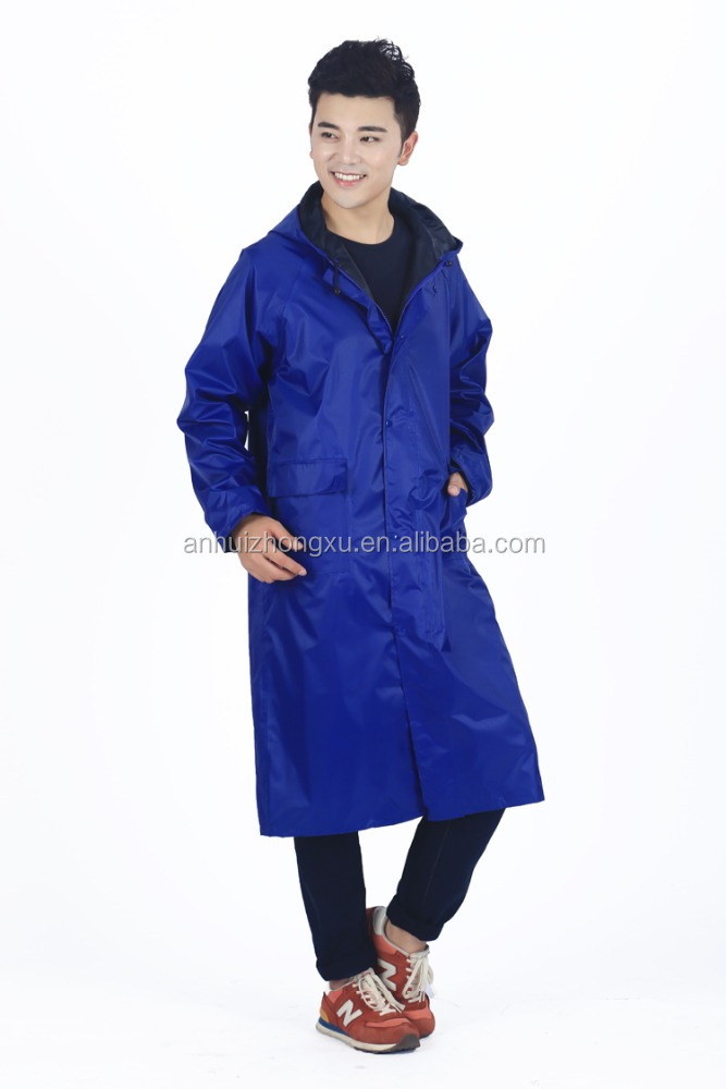 OEM service waterproof cheap long raincoat outdoor waterproof rain jacket