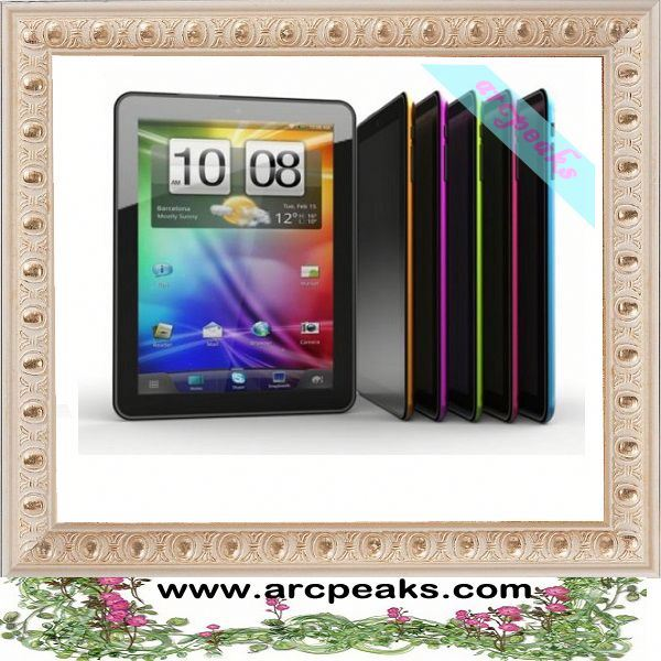 8 inch tablet pc with front and back camera