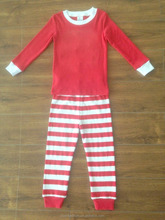 220g customed applique wholesale christmas kids pajamas