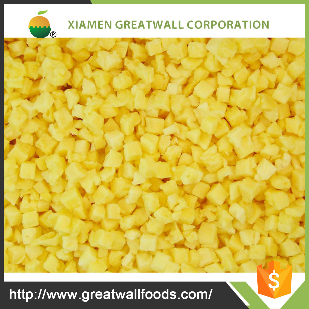 Supply frozen dried pineapple with high quality for sale