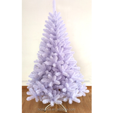 Full pvc white color artificial christmas tree 1.8m
