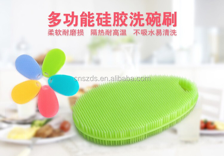 Multi-fonction Magic Silicone Dish Bowl Cleaning Brushes Scouring Pad Pot Pan Wash Brushes Cleaner Kitchen Accessorie