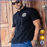 China wholesale 100% men cotton polo shirts OEM custom service printed fat shirt t shirt