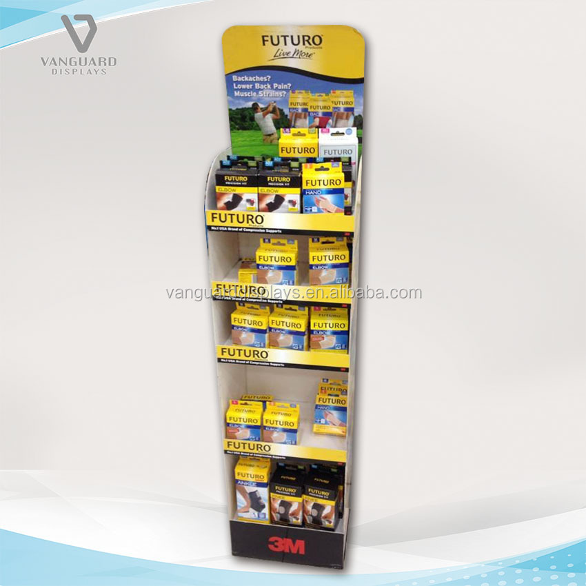 Sport Bracer Protect Cardboard Standing Shelf Display