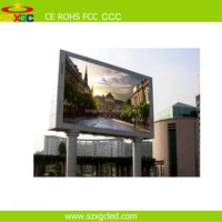 SMD full color led display p10 p8 p6/led video wall panel for commercial advertising outdoor