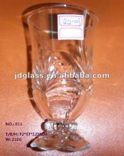 Carved Pressed Ice Cream Glass Cup for ice cream
