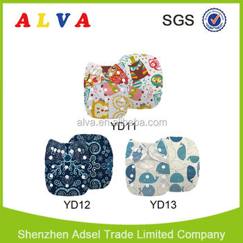 Free Shipping New Arrivals for Alvababy Print Cloth Diaper Hot Sale Reusable Diaper Wholesale