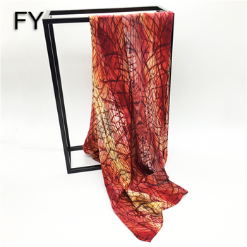 High end customized digital printing silk scarf women