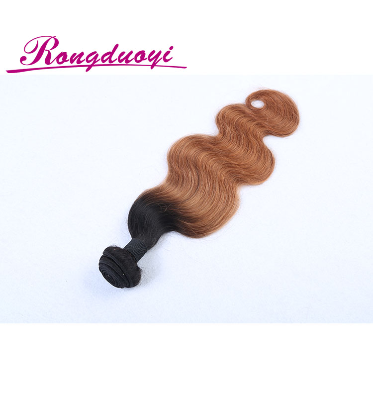Hot sale cheap 100% Brazilian human hair weave body wave blonde and brown bundles