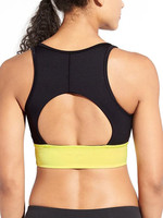 Sports bra for yoga Cutout back detail with removable cups yoga clothing eco friendly