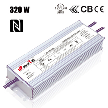 320W 1400mA 1050mA adjustable output high voltage constant current IP67 waterproof LED driver with 12V aux power dim to off func