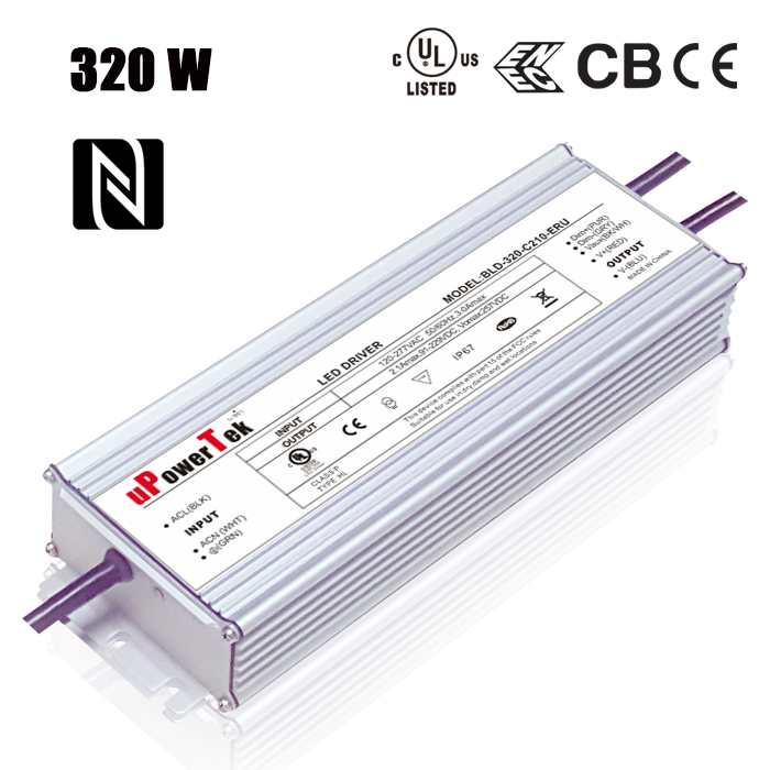 320W 1400mA electronic IP67 Waterproof LED driver with UL approved