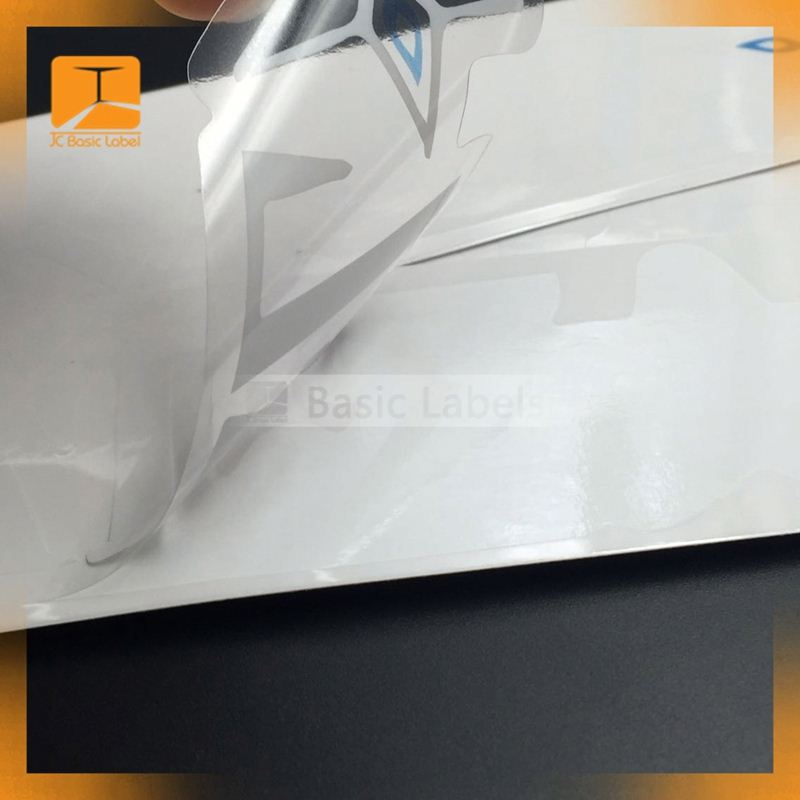 Quality glass card vinyl for the face of the adhesive sticker vinyl