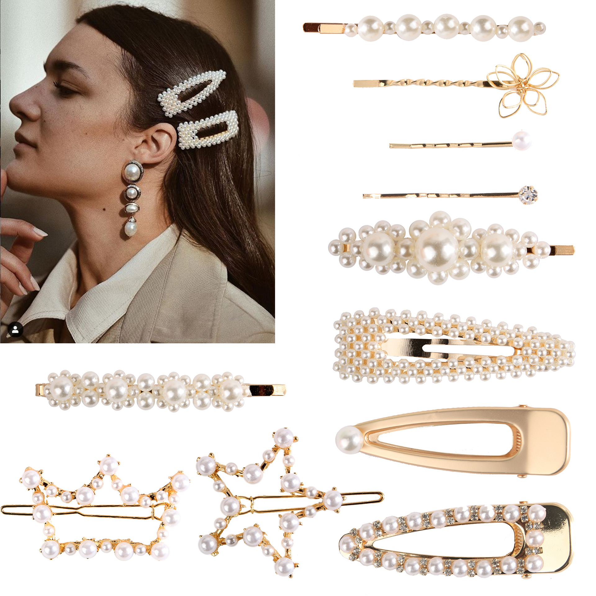 2019 Dvacaman Custom Hot Sale <strong>Hair</strong> <strong>Accessories</strong> Handmade Pearl Hairpin for Wedding