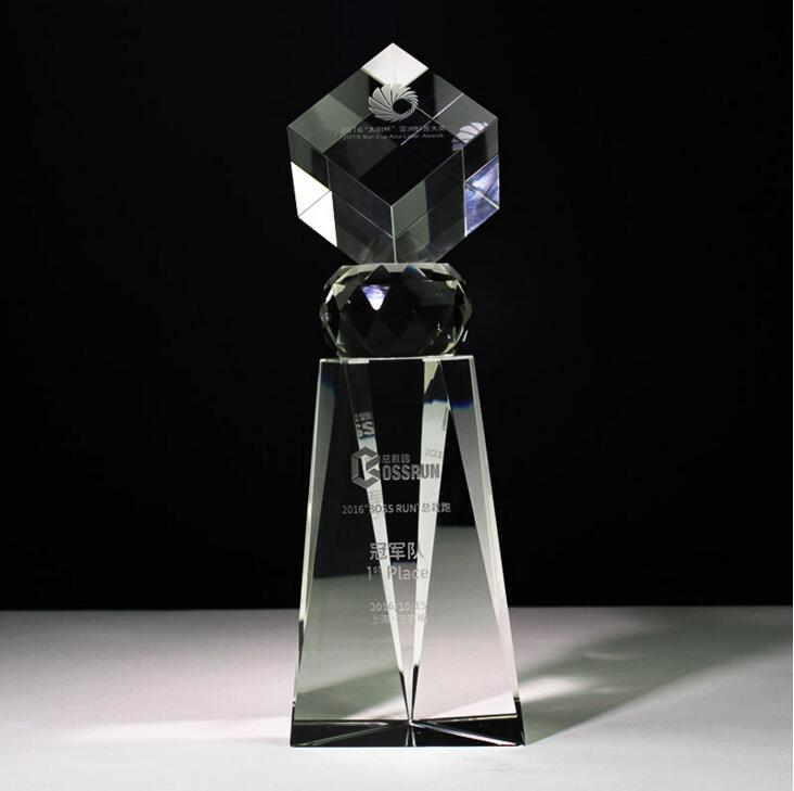 Factoy price acrylic clear crystal first trophy for promotional in prize