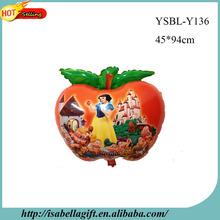 New arrival princess series cartoon roles apple shape balloon for decorating