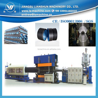 Plastic double wall corrugated extrusion machine