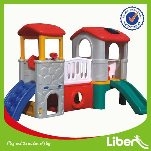 Children Indoor Plastic Play House With Slide OEM Accept LE-HT015
