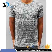 Guangzhou daijun oem men o neck fashion polyester printing most popular t shirt colors