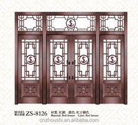 shop exterior entrance bronze commercial glass entry door with security
