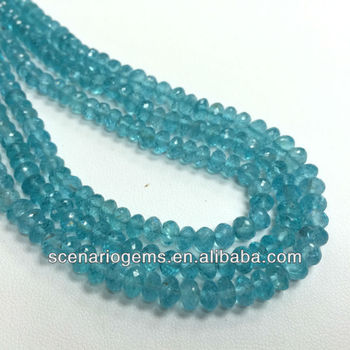 #234CE Natural Roundel Loose Gemstone Beads Apatite