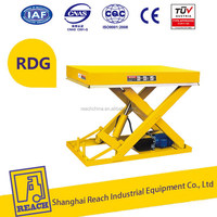 Alibaba china hot sell 2t small stationary portable lift table