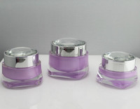 High quality square small containers for cream with round diamond cap