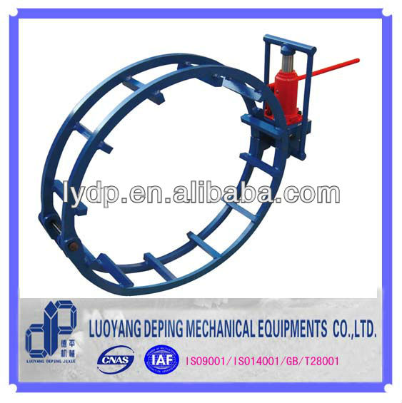 Pipeline construction external hydraulic pipe clamp