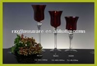 home decoration customer design candle glassware wholesale