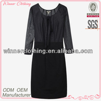 Fashion sexy ladies black casual dresses india
