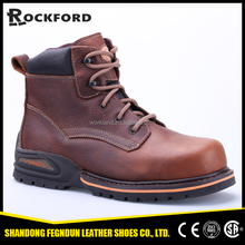 Fashionable brown protective shoes, stylish combat boots FD6330