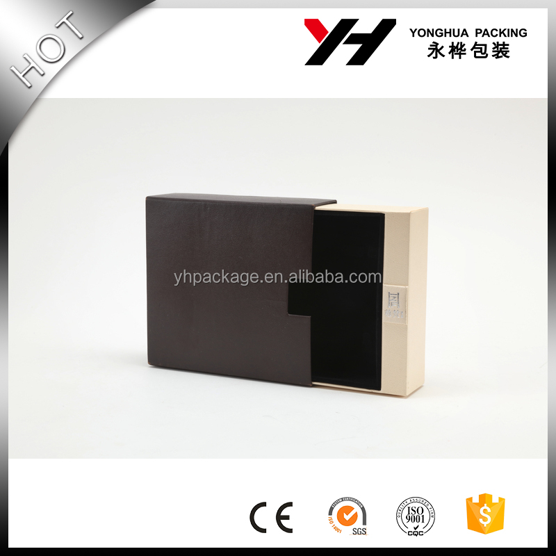 Custom luxury black decorative cardboard drawer packaging gift <strong>box</strong> ,paper packing <strong>box</strong> manufacture