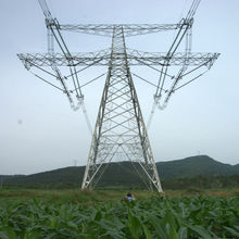 certificated 132kv transmission line steel tower