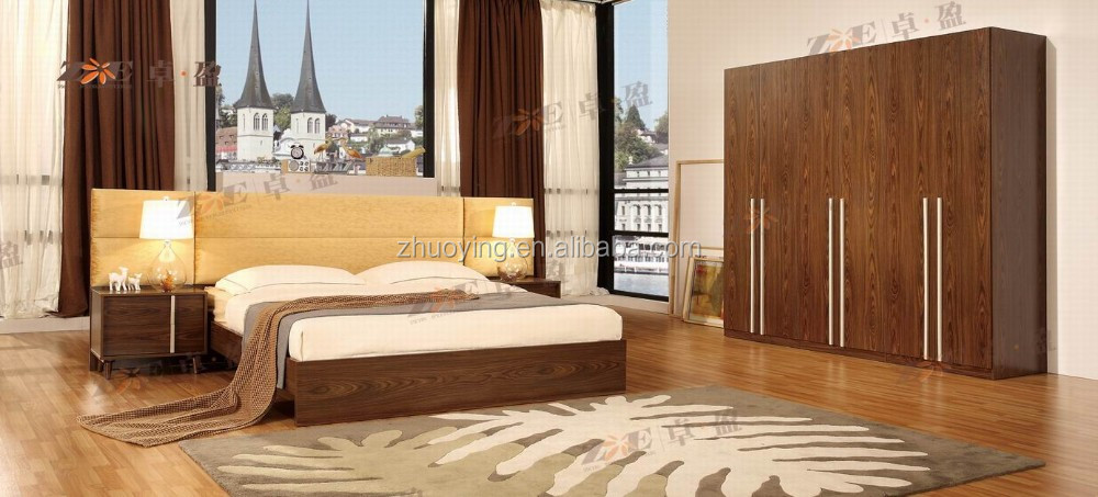FOSHAN FACTORY HIGH QUALITY HOME FURNITURE WOODEN BEDROOM SET