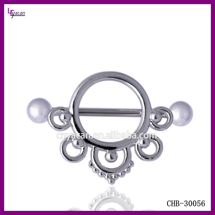 Vibrating Body Piercing Jewelry 16g Sex Gay Nipple Piercing