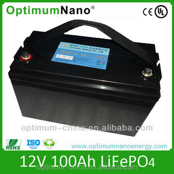 12v 100ah lifepo4 lithium iron phosphate battery pack for UPS