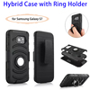 HOT Products 3 in 1 Phone Case with Ring Holder for Samsung Galaxy S7 Case