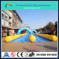 most popular inflatable water double lane slide the city for sale
