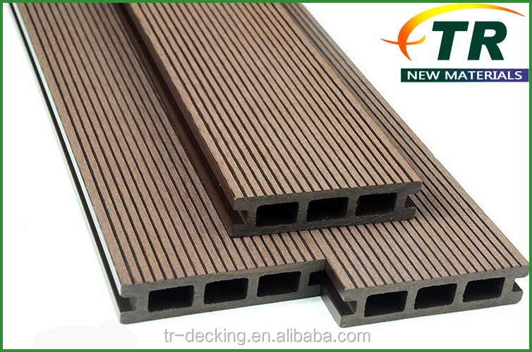 High quality wood polymer composite decking