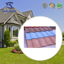 wholesale 2017 new wood shake type stone coated metal roof tile/color metal roofing sheet