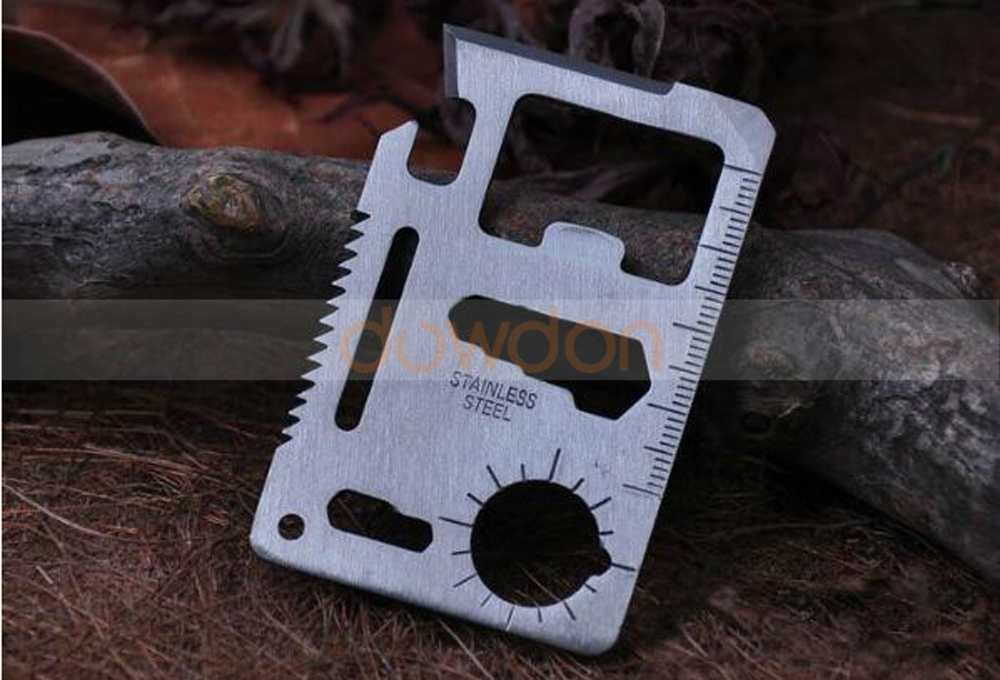 Multi Tools 11 in 1 Multifunction Outdoor Hunting Survival Camping Pocket Credit Card Tool Knife