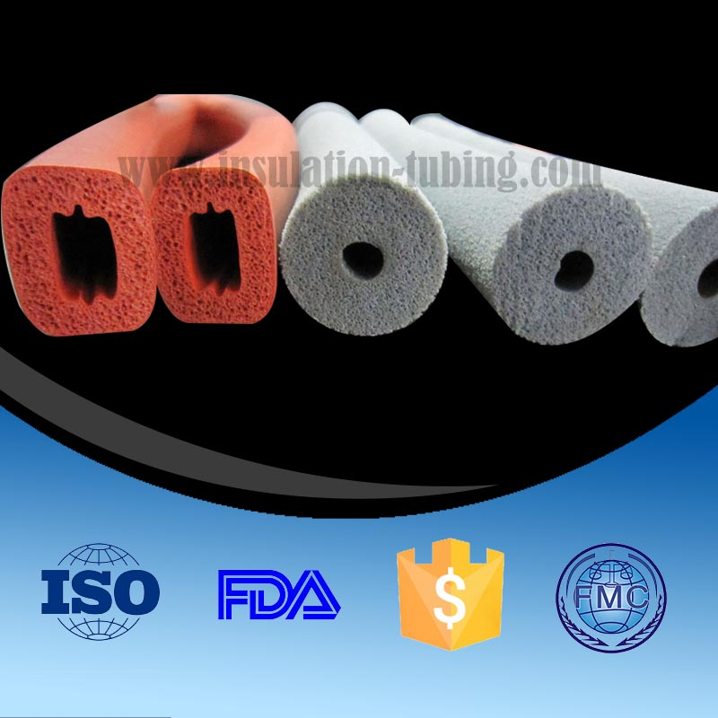 Bendable Silicone Rubber Sponge Foam Tube/ Hose/ Pipe/ Sleeving/ Tubing