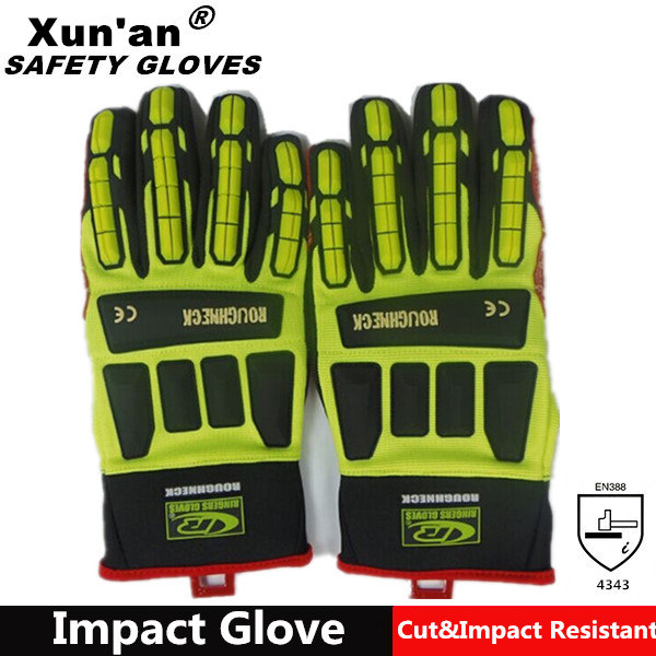 Durable Mechanic Gloves with Synthetic Leather Palm