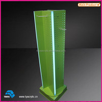 Chinese manufacture acrylic cell phone accessories display rack floor stand
