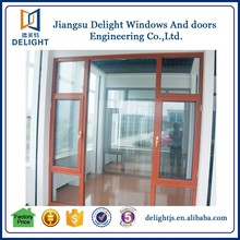 Horizontal swing composite frame casement window grill decoration