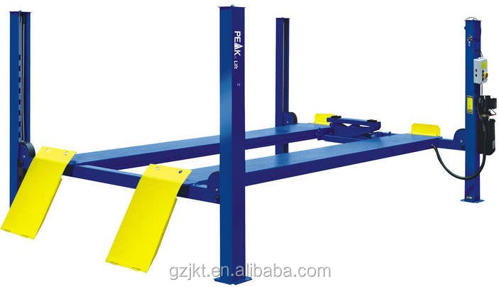 High quality 220V used 4 post car hydraulic lift for sale 5.5T