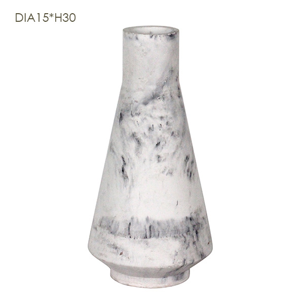 New products marble effect of decorative garden flowers pots designed for garden flowers and factory direct sale